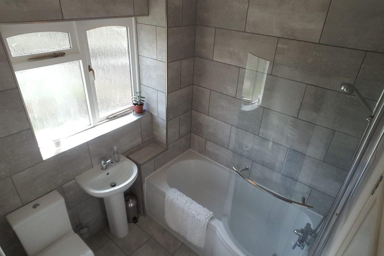 Bathroom tiling after