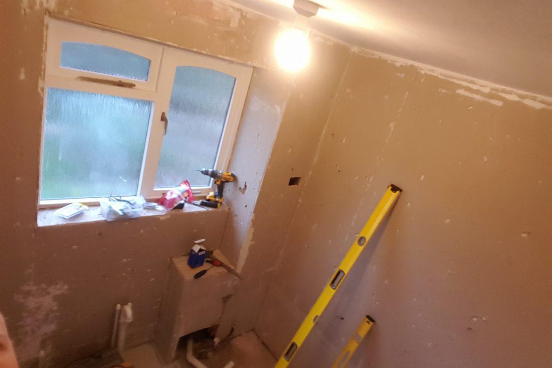 Bathroom tiling before