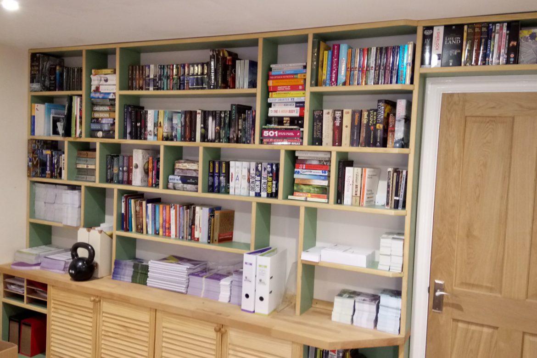 Bookshelf after