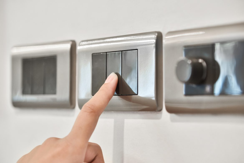 Grey light switches.