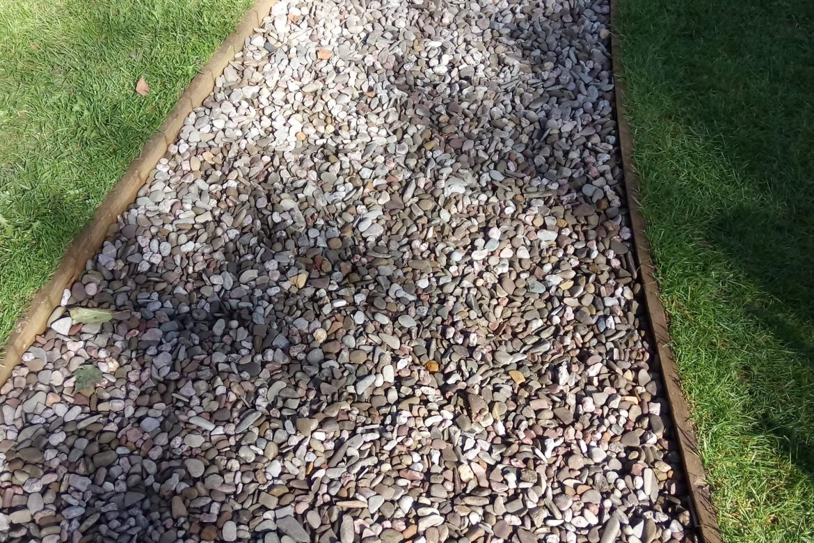 Gravel path after