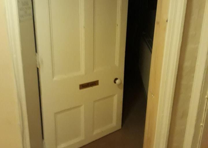 Recycled & rehung door