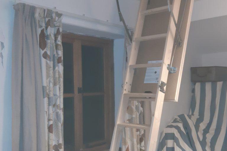 Loft hatch & ladder installed