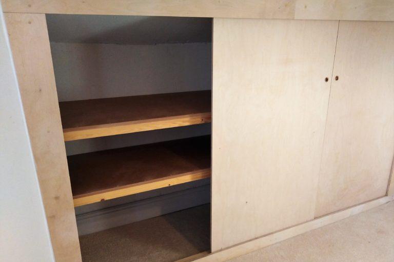 Sliding wardrobe – Birch Ply